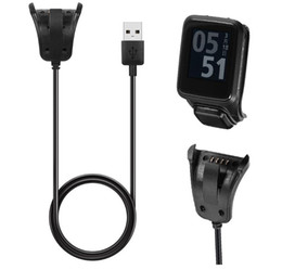 Discount tomtom cables 1M USB Charging Cradle Cable Charger For TomTom Runner 2 3 Adventurer Golfer 2 for TomTom Spark 3 GPS Watch