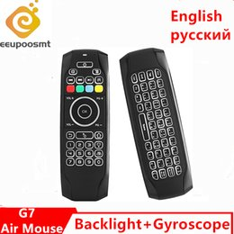 $enCountryForm.capitalKeyWord Australia - G7 English Russian Backlit Fly Air Mouse Gyroscope IR Learning Wireless Mini Keyboard 2.4G Remote Control for Android TV BOX