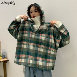 Wholesale patchwork vintage clothes for sale – plus size Hoodies Women Novelty Patchwork Vintage Plus Size Sweatshirt Oversized Hoodie Womens Clothes Winter Thicker Casual Kawaii Warm