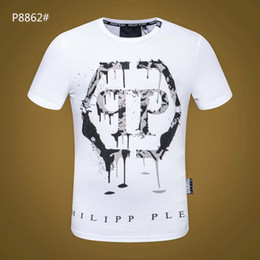 Wholesale cotton plain t shirt online – design 202 Printed Phillip Plain T Shirt Fashion Casual Fitness Cool O neck Men s Bear T Shirt Summer Short Sleeve Men Clothing A3