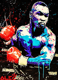 AbstrAct pAintings for bedroom online shopping - Alec Monopoly Painting on Canvas Graffiti Mike Tyson wall Art Silk Poster x36inch x43inch