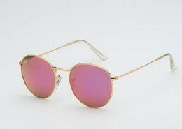 $enCountryForm.capitalKeyWord NZ - Round Metal Vintage Sunglasses 3447 Brand Designer Sunglasses Men Women High Quality Sunglass UV400 Glass Lenses with Original Leather Box
