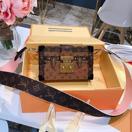 Ladies Handbag Fabric Australia - Petite Malle Favorite Womens Designer Luxury Shoulder Bags Rivoli Brown Leather Lady Fashion Handbags Removable Chain Casual Totes with box