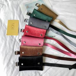 EnvElopE packing online shopping - 7styles Velvet Waist Packs belt pack Women Summer Velvet Hip Bum Belt Bag Candy Envelope mini fashion Fanny Pack FFA2000