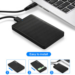 2.5 inch ssd sata hard drive UK - HDD Enclosure Case 2.5 inch SATA to USB 3.0 SSD Adapter for SSD 1TB 2TB External Hard Disk Drive Box