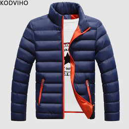$enCountryForm.capitalKeyWord Australia - Parka Homme Winter Casual Cotton Padded Warm Parkas Men Casual Solid Korean Style Windproof Coat Mens Regular Fit Quilted Jacket