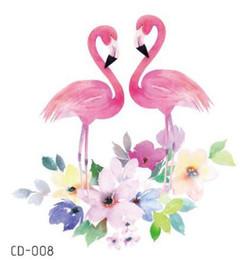 Temporary Tatoo Fake Tattoo Sticker Flamingo Bird Flower Waterproof Flash Tatto Tatouage Temporaire Body Art For Girl Women Kids from gold crown for bride manufacturers