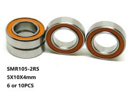 Si3n4 ball online shopping - 6pcs x10x4mm SMR105 RS SMR105 RS RS ABEC Stainless Steel hybrid si3n4 ceramic bearing fishing reel bearings mm
