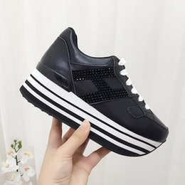 Shoes Women Platform Sport NZ - Italy Luxury Fashion design black and white bottom Lace Up shoes womens sports flat shoes comfortable casual platform Women shoes 35-40