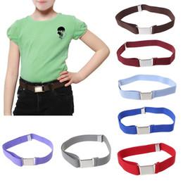 $enCountryForm.capitalKeyWord Australia - Children Kids Solid Color Unisex Canvas Belts Boys Girls Elastic Belt Adjustable