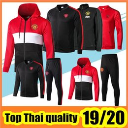 Wholesale 2019 POGBA jacket tracksuit Survetement RASHFORD LUKAKU football training suit jacket Jogging chandal futbol