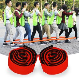 Toy Sports Reasonable Hot Two People Three-legged Running Game Ropes Elastic Sport Foot Rope Kids Cooperation Funny Outdoor Game Sports Meeting Props