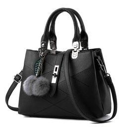 Single Hair Weave UK - New slae European and American hair ball handbag simple handbag diagonal bag fashion handbag unilateral hand
