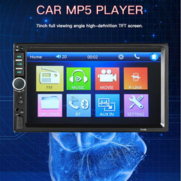 Audio infrAred online shopping - 7 Inch Din Mp3 Mp4 Mp5 Player b Android Car Radio Fm Modulator Audio Transmitter Stereo Receiver Autoradio CD