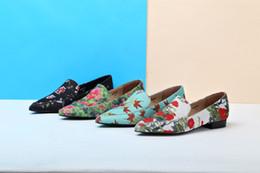 $enCountryForm.capitalKeyWord Australia - Women New Fashion Flat Heels Comfortable Pointed Toe Design Pump Shoes Nice high quality Flower print material Single shoes BS001
