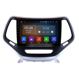 touch video NZ - 10.1 Inch Android 9.0 Touch Screen GPS Navi Car Stereo for 2016 Jeep Cherokee with Bluetooth AUX USB support Steering Wheel Control car dvd
