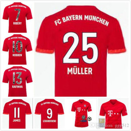 Lewandowski Jersey Australia - New 19 20 Bayern Munich soccer Jerseys 2019 home JAMES ROBBEN HUMMELS 5 LEWANDOWSKI 9 man muller 24 JERSEY FOOTBALL SHIRTS