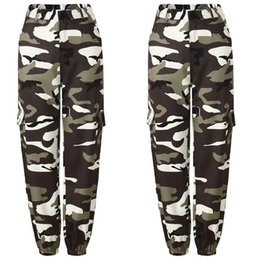 Wholesale 2018 New Fashion Women Casual Camouflage Harem Pants Army Trousers Casual Loose Pants