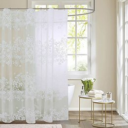 flower shower curtain 2019 - Bath Shower Curtain Waterproof Bathroom Flower Print Liner Non Toxic Water Resistant With Hooks Bathroom Products cheap