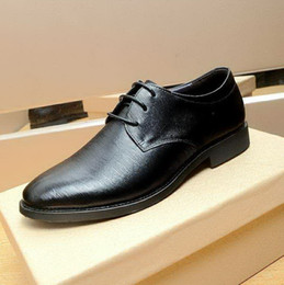 $enCountryForm.capitalKeyWord NZ - New arrival men black genuine leather oxfords,designer brand fashion pointed toe lace up business wedding dress shoes 38-44 drop shipping