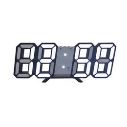 venda por atacado 3D Grande LED Digital Relógio de parede Data Hora Celsius Nightlight Visor Tabela desktop Clocks Alarm Clock Para Casa Sala de Estar
