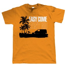 Detail gift online shopping - Details zu Easy Come Easy Go T4 Campervan T Shirt Transporter Gift for Him DadFunny Unisex Casual top