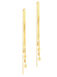 1f81f73cda4f Pendientes de oro puro 18k online-Pure Real 18 K Amarillo Rosa Oro Au750  Charm