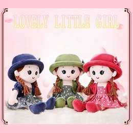 Figure Child Australia - Lovely Little Girls Sleeping Plush Dolls Holiday Gifts Children Plush Toys Kids Soft Figure Doll with Detachable Hat Dress