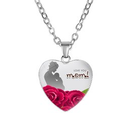 Best Glasses Shape Australia - New Arrival Love You MOM pendant Necklace Glass Heart Shape Best Mom Ever charm For women Mama Fashion Jewelry Mother's Day Gift