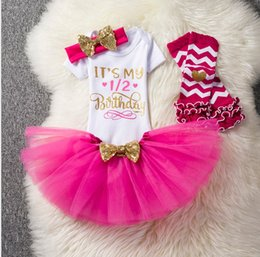 2563c034fcf0 Baby girl birthday outfits rompers+tutus skirts+sequin headband+Legging  sock 4pcs set infant party dress up 1st 2nd year toddler gifts