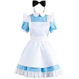 $enCountryForm.capitalKeyWord Australia - Alice in Wonderland Blue Maid Dress Cosplay Costume Outfit Suit Apron Version