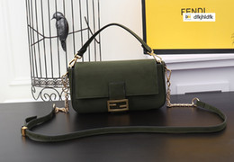 green glitter clutch bag NZ - PGNS 3335 Classic Frosted Baguette Army Green 26CM WOMEN HANDBAGS ICONIC BAGS TOP HANDLES SHOULDER BAGS TOTES CROSS BODY BAG CLUTCHES