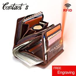 $enCountryForm.capitalKeyWord NZ - 100% Genuine Leather Men Wallets Zipper Coin Purse Short Male Money Bag Quality Designer Rfid Walet Small Card Holder Clutch Y19052701