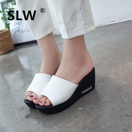 Frauen Sommer Sandalen Schuhe Peep-toe Schuhe Römischen Sandalen Damen Flip-flops Außerhalb Keile Flips Flops 12 Cm Casual Schuhe Absätze