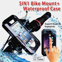 Waterproof Case 5.5 Australia - Motorcycle Bicycle Holder For Iphone 5 7 8 6s Plus Xiaomi Huawei Support Mobile Phone Stand With Waterproof Case Bag Shell J190507