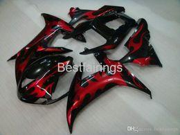 $enCountryForm.capitalKeyWord Australia - 100% Fitment. Hot sale Injection molding fairing kit for YAMAHA R1 2002 2003 red flames in black fairings YZF R1 02 03 VB25