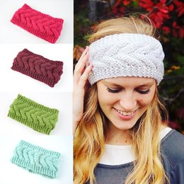 54600ea6641 24 Colors Fashion Winter Ear Warmer Headbands Twist Knitted Headbands Wool Hair  Band Hair Accessories Braided Head Wraps For Women Girl M24F