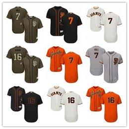 2019 San Francisco # 7 Aaron Hill 16 Ange Pagan men # FEMMES # JEUNESSE # Maillot de baseball pour homme Maillots de majestueux cousus professionnels en Solde