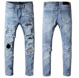 China new 2018 justin bieber pants Slim Streetwear Brands trousers chris brown tyga pants skateboard fashion skinny Zipper Jean Pnats supplier tyga ripped jeans suppliers