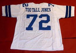 Опт Дешевые ретро #72 Эд Джонс пользовательские Митчелл Несс Джерси слишком высокий Джонс мужские шить высокого класса размер S-5XL футбольные майки колледж NCAA