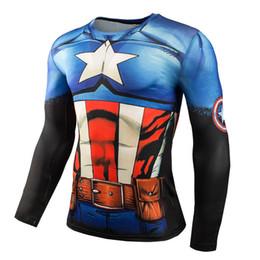 $enCountryForm.capitalKeyWord Australia - Hot Sale Compression Shirt Mens Long Sleeve Anime Bodybuilding T-Shirt 3D Printed Superman Running Tops Plus Size 4XL