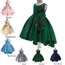 $enCountryForm.capitalKeyWord UK - 2019 Kids Clothes Children's Catwalk Tuxedo Dress Girl princess wedding dress big flower princess dress sequin embroidered children's skirt