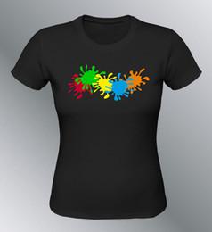 $enCountryForm.capitalKeyWord Australia - T-shirt customised spots painting woman painter taché tinker paintballMen Women Unisex Fashion tshirt Free Shipping