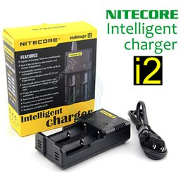 mod original e cigarette NZ - Original Nitecore I2 Universal Intelligent Charger for E Cigarette 18350 18650 14500 26650 mods Battery Intellicharger US UK EU AU PLUG mod