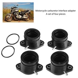 $enCountryForm.capitalKeyWord Australia - 4Pcs Black Rubber Carb Intake Carburetor Interface Adapters for Yamaha XJR1200 1995-1999 XJR1300 1998-2001