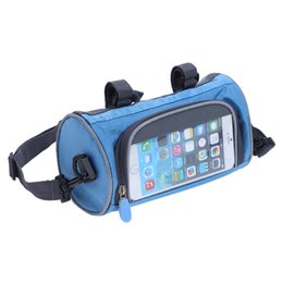 $enCountryForm.capitalKeyWord UK - Mountain Bike Bicycle Bags Panniers Touch Screen Cycling Phone Bag cover Case Road Bike Front Tube Handlebar Cylinder Bag for Samsung