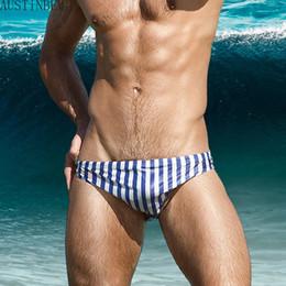 Men S Swim Briefs Australia - Colorful Fresh Triangular Swim Trunks Swimwear Men Sexy Stripe Men 'S Swimsuit Sunga Masculina Beach Short Board Brief