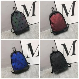 Types fabric maTerials online shopping - Lingge Pattern Backpack Brand Both Shoulders Knapsack Men And Women Bag Sport Polyester Fiber Material Black Portable jn C1