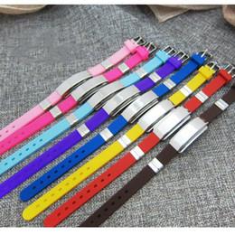 $enCountryForm.capitalKeyWord Australia - Rubber Silicone Bracelet Stainless Steel Bracelet Bangle Adjustable Slide Mutil-Color Children Women Men Jewelry