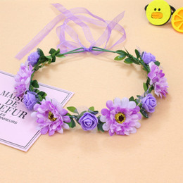 Women's Hair Accessories Fine Led Camellia Flower Crown Headbands Light Party Rave Floral Band Wreath Wedding Flower Hair Accessories Girl Headpiece Decor